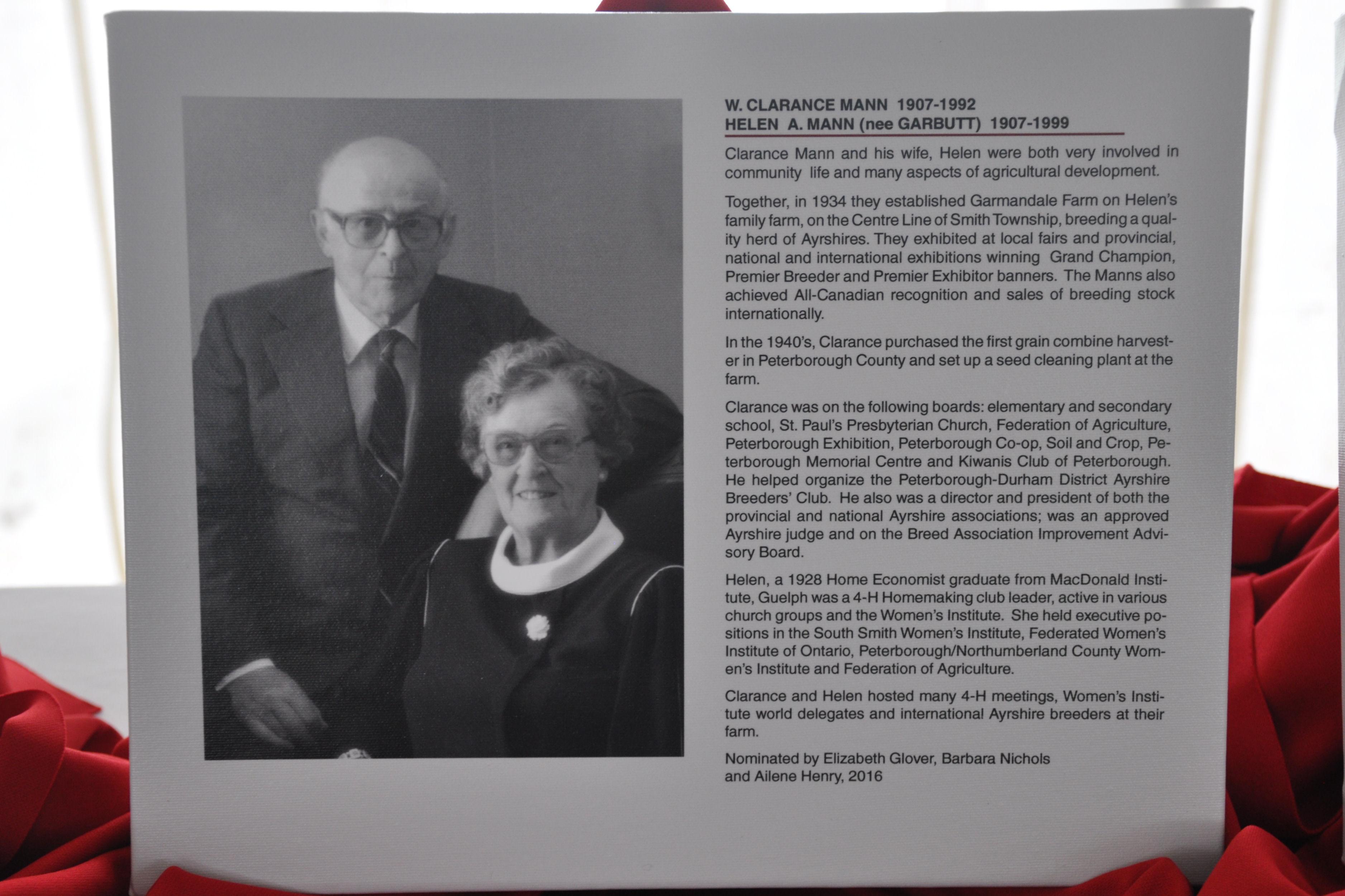 Clarance and Helen Mann