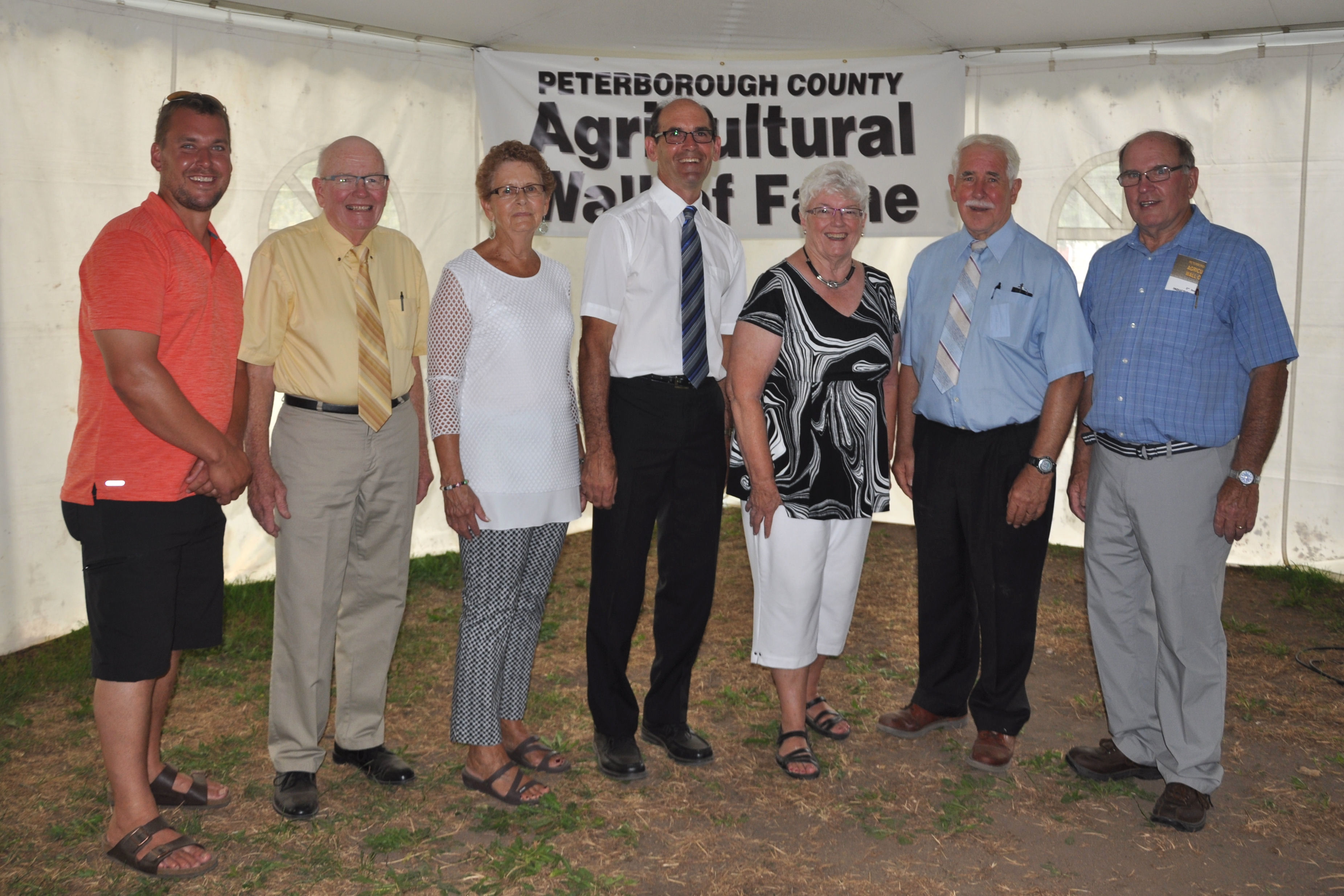 2016 Peterborough Agricultural Wall of Fame Committee, Mike Telford, David Brackenridge, Colleen Terpstra, Wayne Warner, Getha Sherry, John Cockburn, David Nelson, missing Kevin Suurd, Marg Dawson