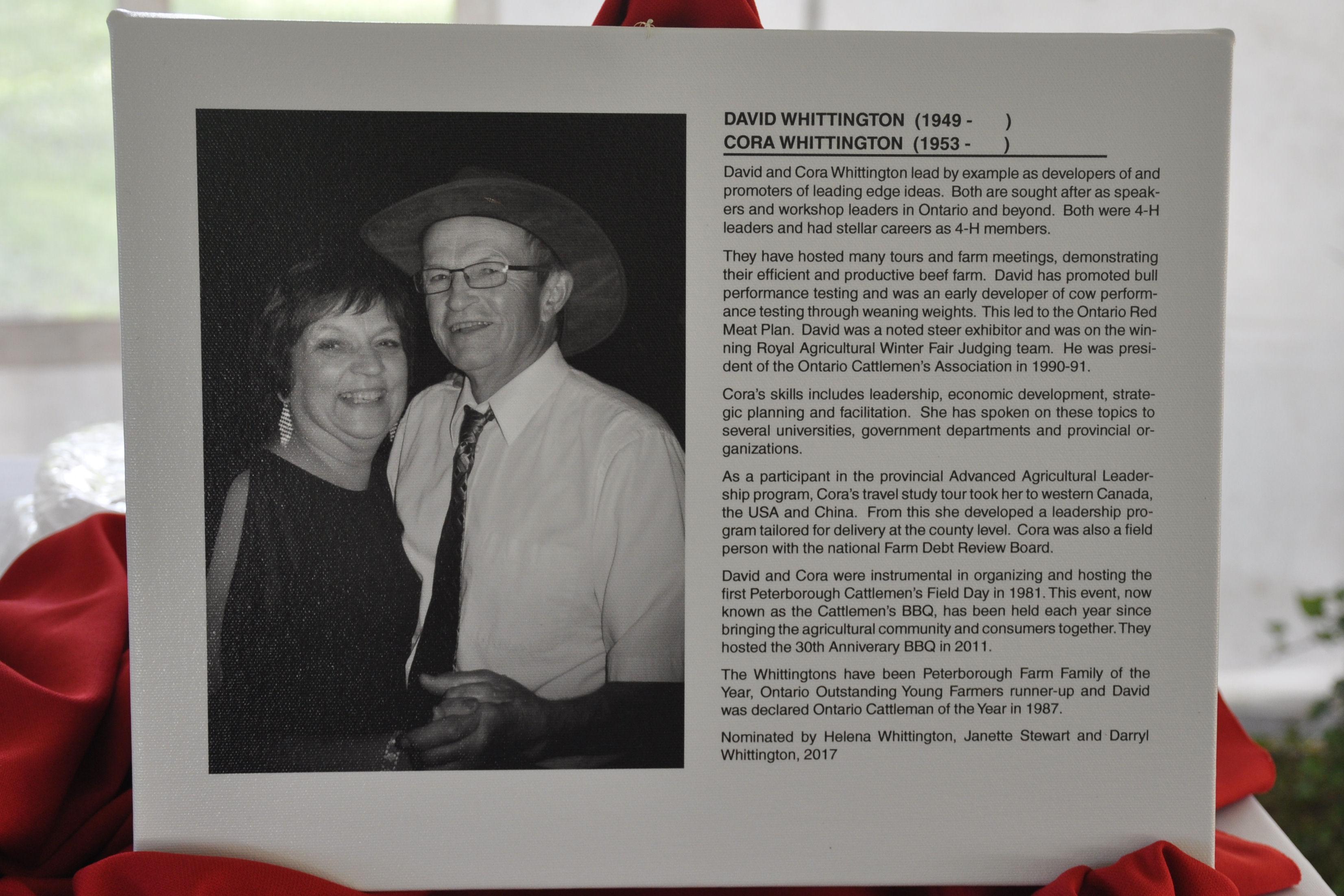 Cora and David Whittington