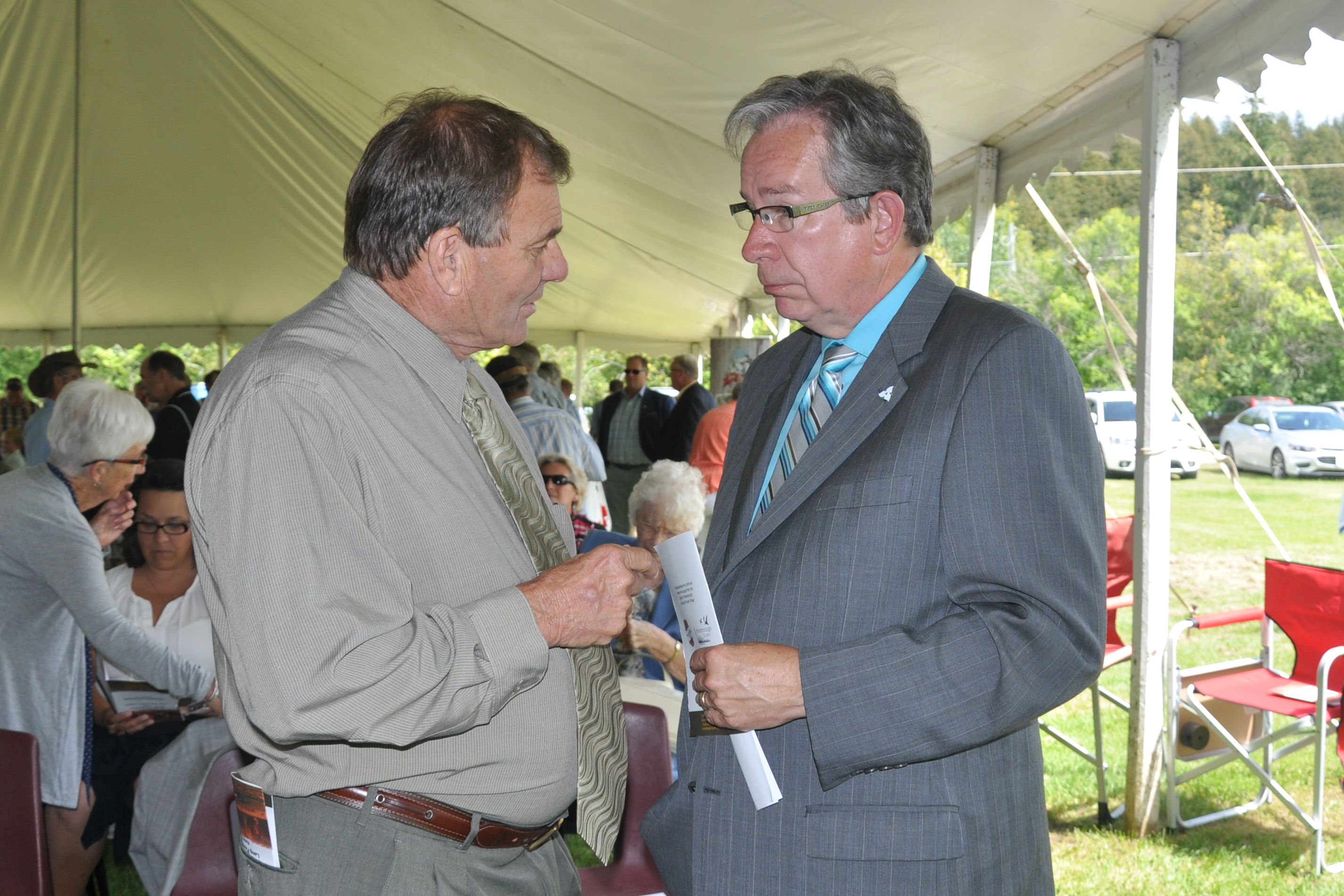 Jim Glenn and Jeff Leal MPP