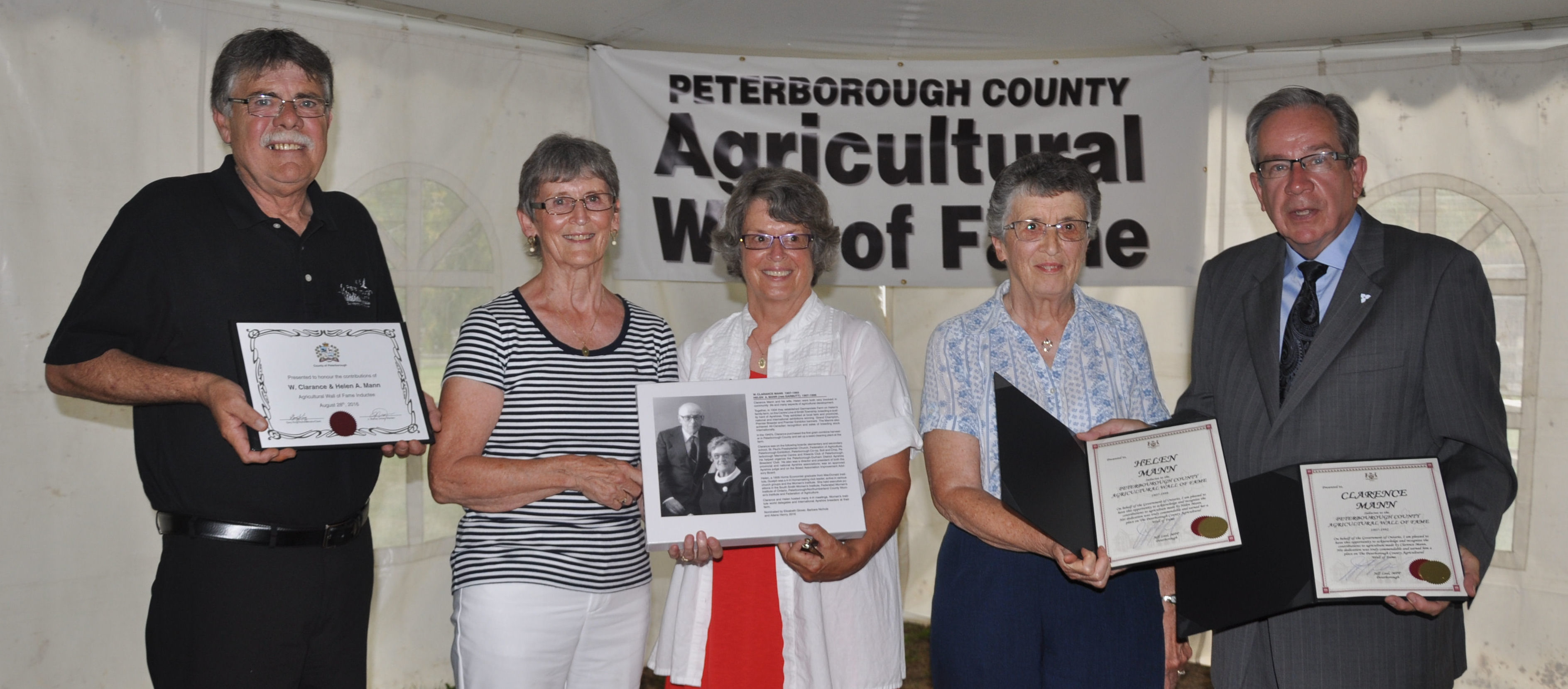 J Murray Jones, Warden, Ailene Henry, Elizabeth Glover, Barbara Nichols, Jeff Leal, MPP
