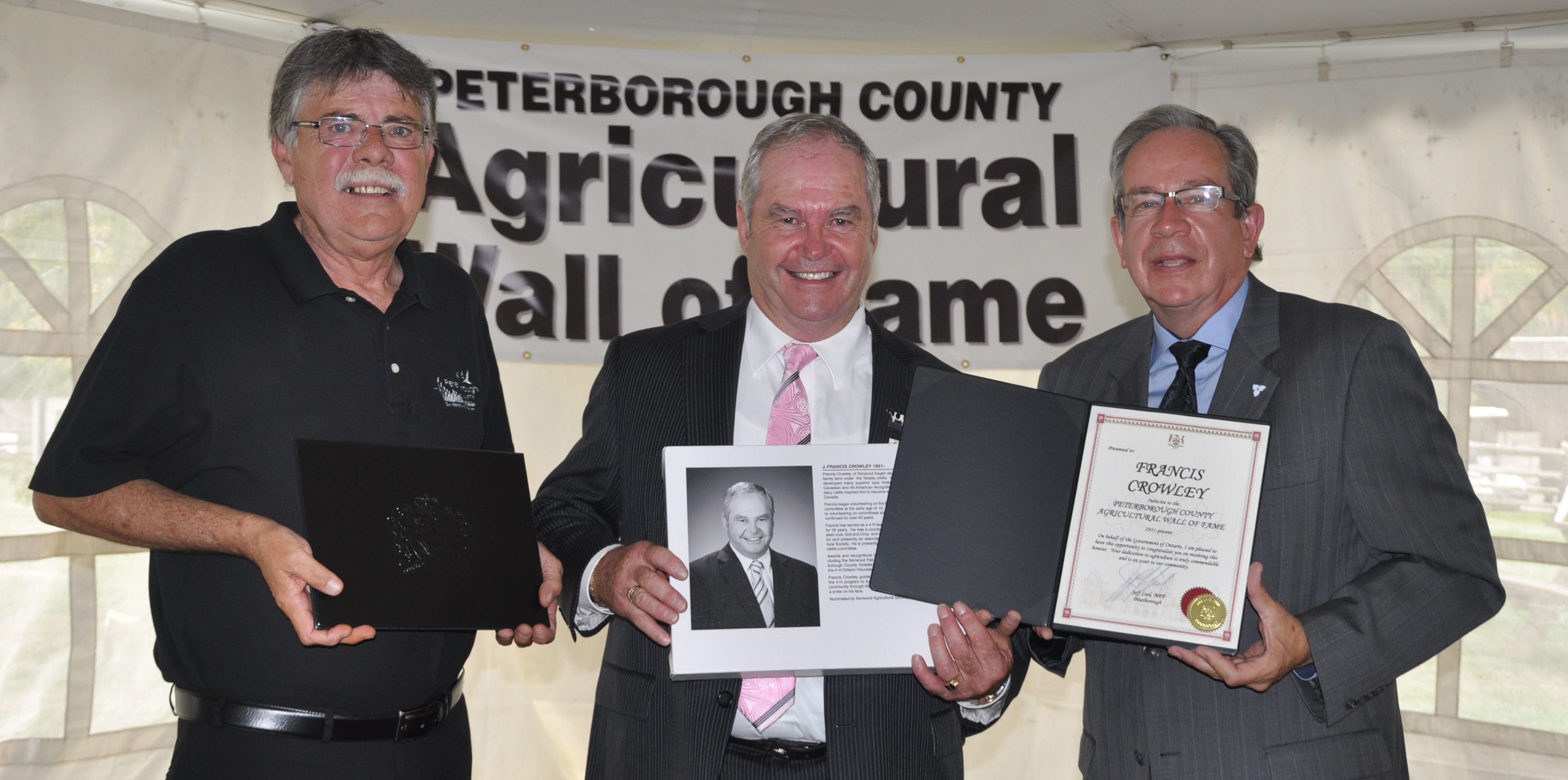 J Murray Jones, Warden, Francis Crowley, Jeff Leal, MPP