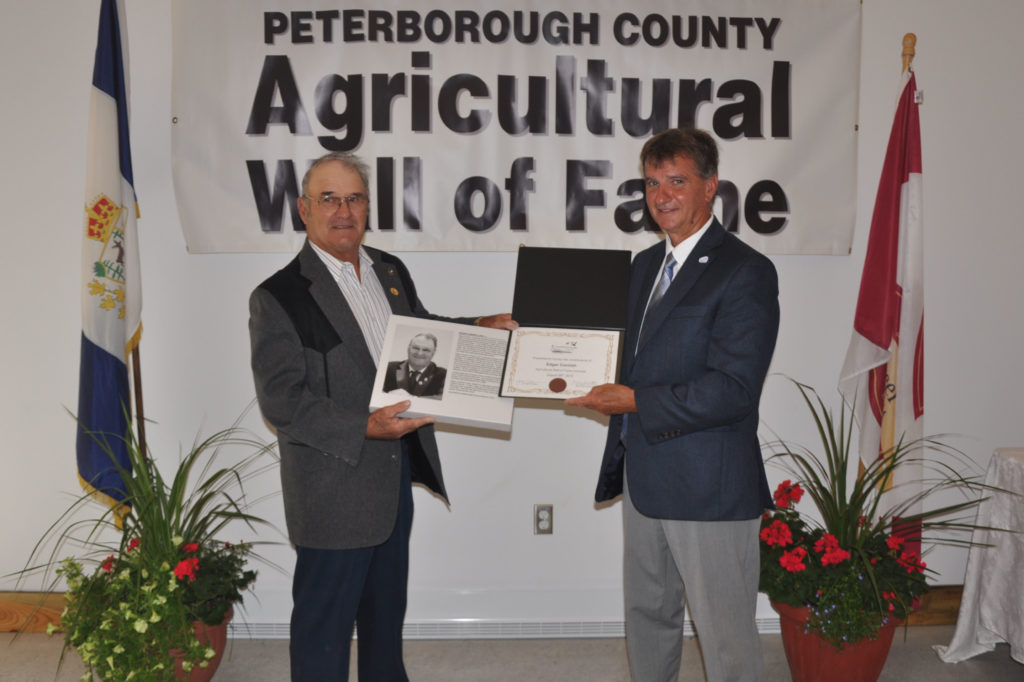Edgar Cornish and Joe Taylor, Warden of Peterborough County