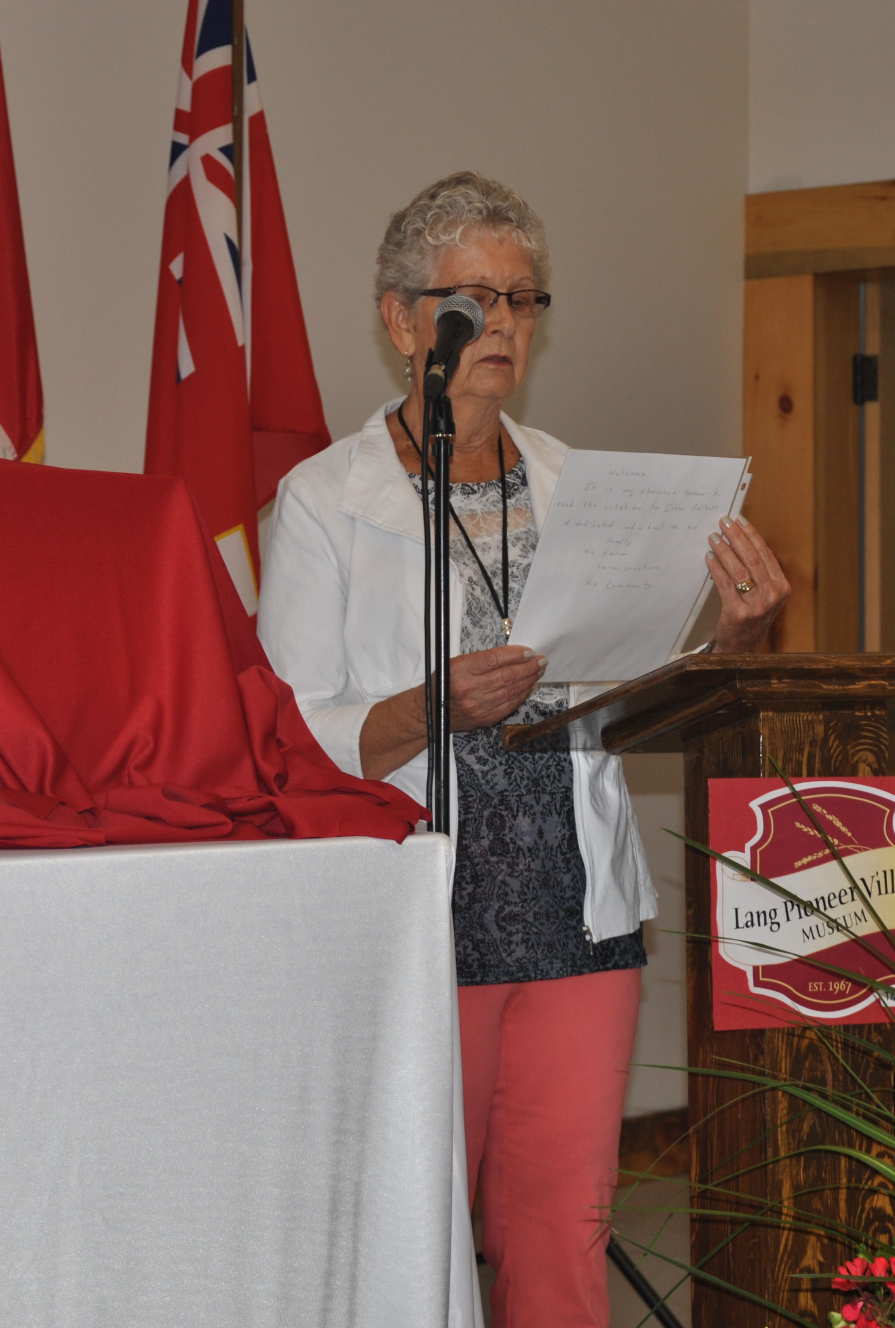 Colleen Terpstra introducing induction of  Edgar Cornish