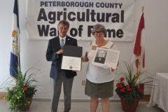Joe Taylor, Warden Peterborough County, Yvonne Garbutt